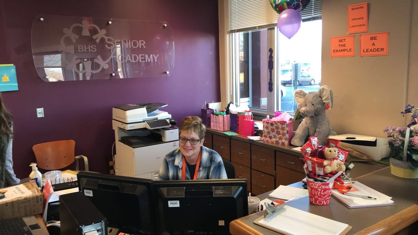 On Rothenberger's last day, it seemed like every senior stopped by her office to say goodbye, hug her, and present her with gifts of all different shapes and sizes.